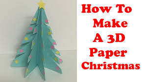 How To Make A 3D Paper Christmas Tree! - by BluePearl - YouTube