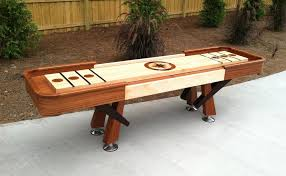 How To Make Wooden Games Furniture Large Cream Wooden Shuffleboard Table For Sale For 81