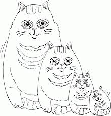Fat Cat Family Coloring Pages Printable