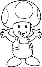 Super Bros Toad Coloring Page Free Printable Pages And Toad Ate A By