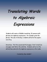 an algebraic expression