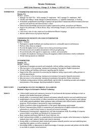 Medical Interpreter Resume Sample Creative Medical Interpreter Resume With Insrenterprises Of Sample 20