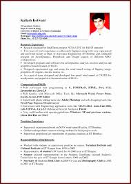 Example Of Resume For College Student With No Job Experience Ehocn