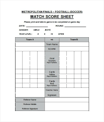Football Score Sheet Template Soccer Scorebook Shootfrank Co