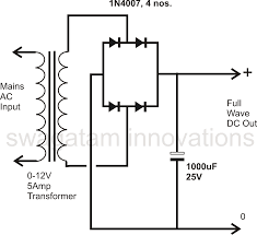 how to design a power supply circuit simplest to the most the figure shows how a full wave rectified power supply is made using four diodes and a relatively low value filter capacitor