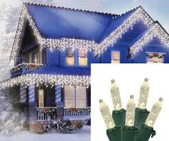 Blue And Warm White Icicle Lights Amazon Com Set Of 70 Warm White Led M5 Icicle Christmas