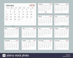 planning calendar template 2018 calendar 2018 daily planner template stock vector art