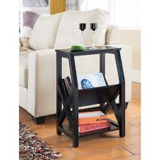 Carved Wood Kings Brand Furniture Black Wood Magazine Rack End Table4021rm The Home Depot Touch Of Class Kings Brand Furniture Black Wood Magazine Rack End Table4021rm