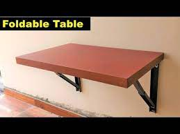 how to make a wall mount folding table