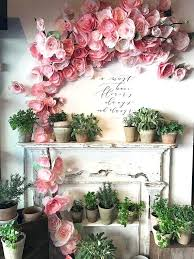 wall decoration flowers large light pink