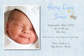 Baby Announcement Cards 40 Personalised Baby Thank You Cards Baby Announcement Cards Boy Free P P Ref Blue