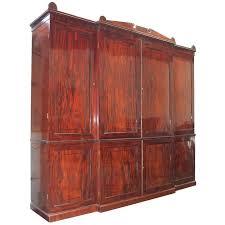period regency mahogany armoire wardrobe linen press for