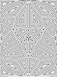 Small Picture Geometric Tessellation With Rhombus Pattern Coloring Page