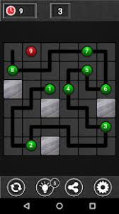 Check out draw lines, which offers you lots of levels, boards of different sizes, free hints and what not. Games Lol