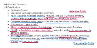 Job Skills For Resume