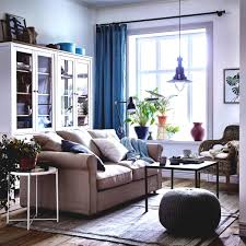 ideas for ikea furniture. A Cosy Beige And White Living Room With Blue Curtains Gr Nlid Seat Furniture Ideas Ikea For D