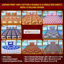 bed sheets printed. Unique Printed Jaipuri Print 100 Cotton 4 Double U0026 Single Bed Sheets With 12 Pillow  Covers 4DSBS2 Intended Printed
