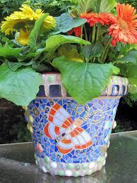 mosaic flower pots for home decor make cool pot diy guidecentral youtube  planter terracotta plant designs