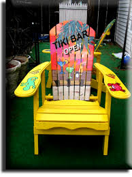 tropical painted furniture. Contemporary Furniture Exquisite Tropical Painted Furniture Pertaining To Adirondack Chair Yellow  Tiki Bar Parrot Head Style Hand And T