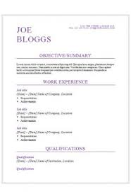 Cv Resume Template Awesome 48 CV Templates Free To Download In Microsoft Word Format
