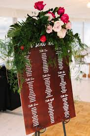 Wedding Inspiration Wooden Seating Chart Calligraphy White