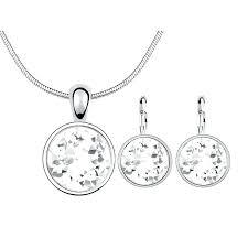 swarovski circle pendant rose gold