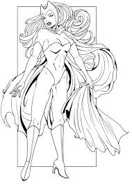 Small Picture Scarlet Witch line art by JaclynnPocchiari on DeviantArt