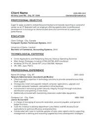 Resume Objective General Examples Generic Resume Objective Generic