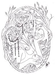 Day Of Dead Coloring Pages Dapmalaysiainfo