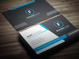 Modern Presentation Card With Company Logo Vector Business Template