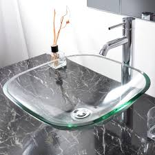 clear vessel sink. Modren Clear Bathroom Lavatory Tempered Glass Vessel Sink Natural Clear Square Shape  Transparent Vanity Spa Basin 0 For