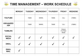 My Weekly Schedule Time Management My Weekly Schedule 2014 Pretty Neat Living