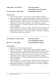 Surprising Coles Online Resume 81 With Additional Resume Templates with Coles  Online Resume