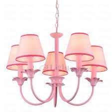 nordic farmhouse pink cream petal girls bedroom chandelier fabric lamp shades