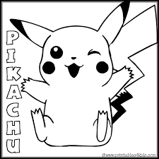 Cute Pokemon Coloring Pages To Print Of Pikachu Pictures Free