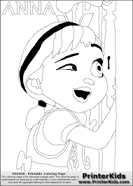 Free Frozen Coloring Page Print Out Disney Frozen Anna Looking