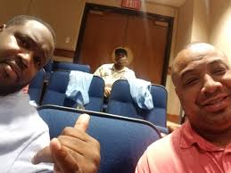 """byron coleman on Twitter: """"Coach Coleman and Coach Mckelvey back at it.  Angelina Convocation. #WeareAc, #orangeandblue, #50yearsstrong… """""""