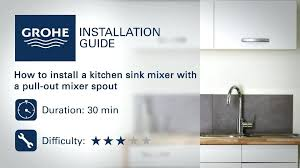 hansgrohe kitchen faucet installation instructions. full image for grohe kitchen faucet installation guide install a sink mixer with hansgrohe instructions