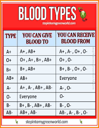 Different Blood Types Chart Blood Type Chart Design Blood Type Chart Blood Groups