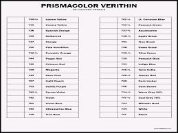 44 Punctilious Free Prismacolor Chart