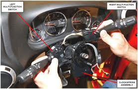 safety recall s33 nhtsa 16v 290 airbag clockspring interim repair right and left multi function switches