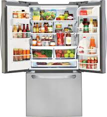 Largest Capacity Refrigerator Lg Lfxs24623s 33 Inch French Door Refrigerator With Slim Spaceplus