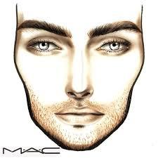 Male Light Toned Face Chart Makeup Face Charts Makeup