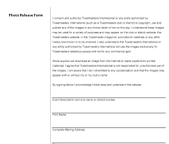 Photography Release Template Free Photo Copyright Form Uk