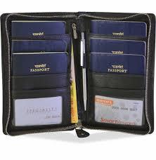 arpera genuine leather family passport holder for 6 passports brown c11592 2