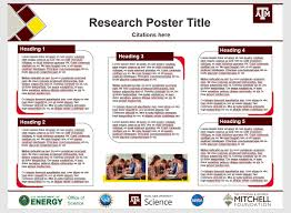 Poster Templates Texas A M College Of Science