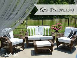 diy painted outdoor cushions and a