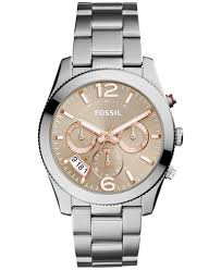 fossil watches macy s fossil women s perfect boyfriend stainless steel bracelet watch 39mm es4146