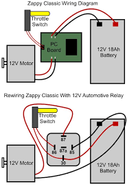 zappy classic electric scooter relay conversion the terminal numbers on automotive relays are clearly marked on their bottom side either a four terminal spst single pole single throw or five terminal