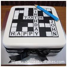 Puzzle Cake Designs Cake For A Crossword Fan Birthday Cakes For Men Adult